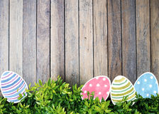 Easter eggs watercolor on background Stock Photography