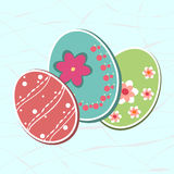 Easter eggs. Of watercolor texture,  background card vector illustration