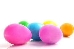 Easter eggs on white Stock Images