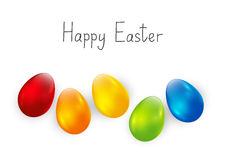 Easter eggs on white. Background Royalty Free Stock Images