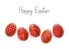 Easter eggs on white Royalty Free Stock Photo