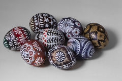 Easter eggs on white background Stock Images