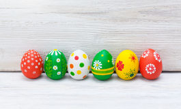 Easter eggs on white background Royalty Free Stock Image