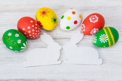 Easter eggs on white background Stock Photos