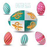 Easter eggs  with white background Stock Photography