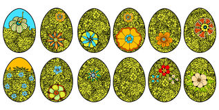 Easter eggs on a white background. Stock Photos