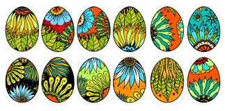 Easter eggs on a white background. Stock Photo