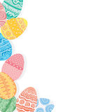Easter eggs on white background Stock Photography