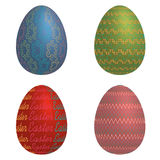 Easter eggs on a white background Stock Photography