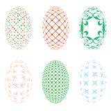 Easter eggs on a white background Stock Image