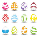 Easter Eggs  on white background. Set of colorful eggs. Royalty Free Stock Photography