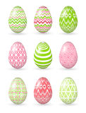 Easter eggs on the white background. Stock Image