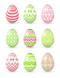Easter eggs on the white background. Royalty Free Stock Images