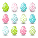 Easter eggs on the white background. Royalty Free Stock Image