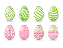 Easter eggs on the white background. Stock Images