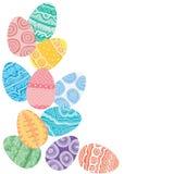 Easter eggs on white background Stock Image