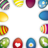 Easter Eggs White Centre Royalty Free Stock Photography