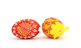 Easter eggs  on white Stock Photography