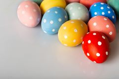 Easter eggs on white royalty free stock photo