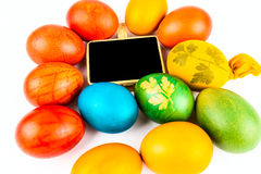 Easter eggs on white Stock Images