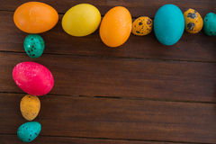 Easter eggs and willow tree Stock Images