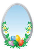 Easter Eggs With Camomiles Royalty Free Stock Images