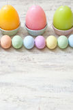 Easter. Eggs on the wood Stock Photography