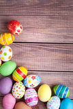 Easter eggs on wood Stock Photo