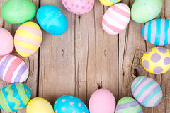 Easter eggs on a wooden background Stock Image