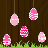 Easter Eggs. With wooden background Stock Image
