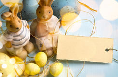Easter eggs on wooden background Royalty Free Stock Photo