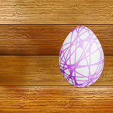 Easter eggs on wooden background. + EPS8. Vector file Vector Illustration