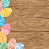 Easter eggs on wooden background. Illustration stock illustration