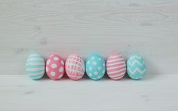 Easter eggs on a wooden background Royalty Free Stock Photo