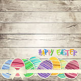 Easter eggs on wooden background  vector Royalty Free Stock Image