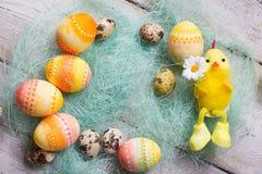 Easter background, Easter eggs. Stock Image