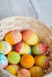 Easter background, Easter eggs. Royalty Free Stock Images