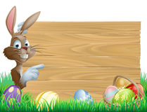 Easter Eggs Wooden Sign Stock Images