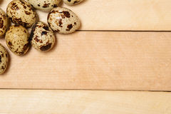 Easter eggs on wooden texture Royalty Free Stock Photos