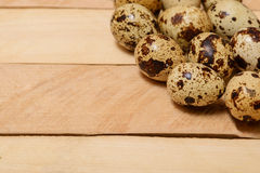 Easter eggs on wooden texture Stock Images