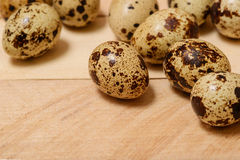 Easter eggs on wooden texture Stock Photography