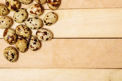 Easter eggs on wooden texture Royalty Free Stock Photo