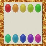 Easter eggs writing paper marble texture background Stock Image