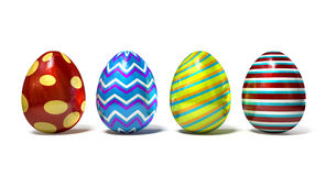 Easter Egss In A Row Stock Photography