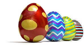 Easter Egss In A Row Stock Photo