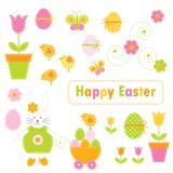easter element royaltyfri illustrationer