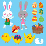 easter element vektor illustrationer