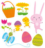 Easter elements. Vector illustration of easter elements