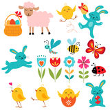 Easter elements. Cute Easter elements for your design royalty free illustration