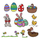 Easter elements vector Stock Photo